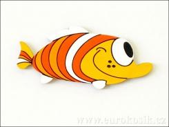 Dekorace ryba oranž. 13cm - balení 3ks