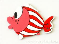 Dekorace ryba červená 8,5cm - balení 5ks