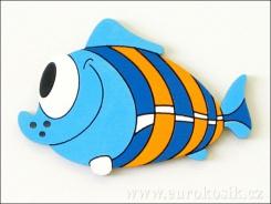 Dekorace ryba modrá 8,5cm - balení 5ks