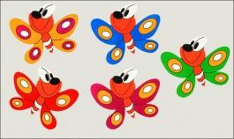 Dekorace na zeď motýl 6cm - balení 10ks