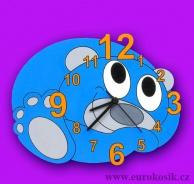 Dětské hodiny nástěnné Míša modrý