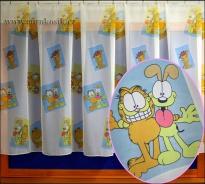 Dětská záclona Garfield výška 180cm