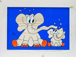 Dětský obrázek sloni modrý
