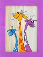Dětský obrázek žirafy fialový