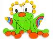 Dekorace na zeď Žába