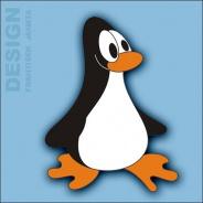 Dekorace na zeď tučňák s křídly 4ks