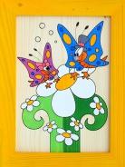 Dětský obrázek motýlci