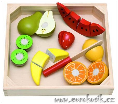 dřevěné ovoce