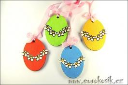Velikonoční dekorace Vajíčka 4Ks