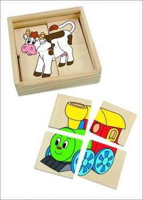 Minipuzzle Mašinka v dř. krabičce