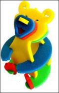 Pěnové puzzle 3D - Medvídek