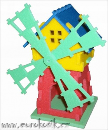 Pěnové puzzle 3D - Mlýn