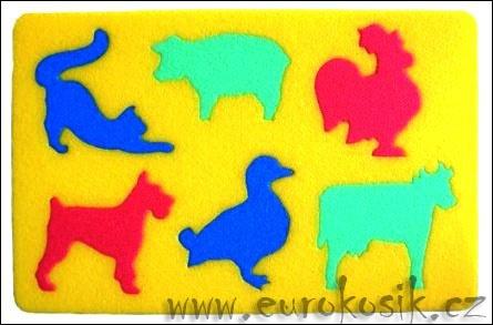 Didaktická hračka Domácí zvířata