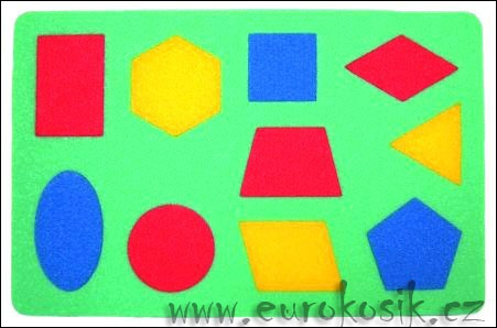 Didaktická hračka Geometrické obrazce
