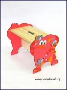 Dětská stolička Kočka červená