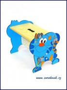 Dětská stolička Kočka modrá