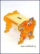 Dětská stolička Kočka žlutá