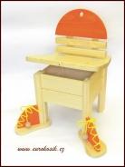 Dětská židlička s botami žlutá