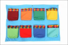 Dětský kapsář s 8 kapsami modrý