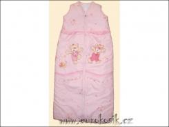 Dětský spací pytel Jirka růžový
