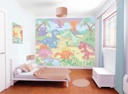 Dětská 3D tapeta na zeď Baby dino