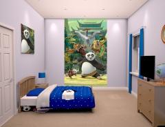 Dětská tapeta na zeď 6-ti dílná - Kung Fu Panda