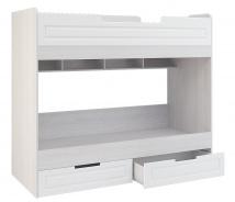 Poschoďová postel PRAGA KIDS KP-723 - jasan / bílá