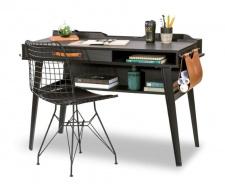 Malý psací stůl Nebula - šedá/černá