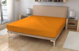 Jersey prostěradlo - pomerančová