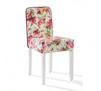 Vintage židle Orchid se vzorem - květiny