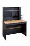 Malý psací stůl s nástavcem Sirius - dub černý/dub zlatý