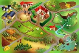 Dětský koberec Farma 3D - 100x150cm