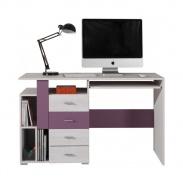 Psací stůl Delbert 13 - borovice/fialová