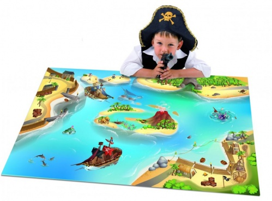 Dětský hrací koberec Piráti - bitva