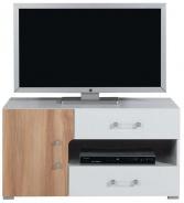 Televizní stolek nízký Anabel 12 - jilm/bílá lux