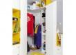 Dětská rohová šatní skříň Moli - výběr barev