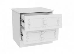 Rustikální noční stolek Juliet - bílá
