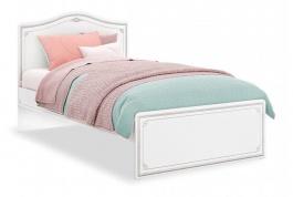 Studentská postel Betty 120x200cm - bílá/šedá