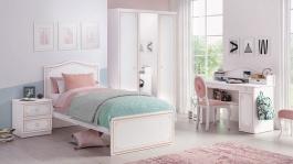 Dívčí pokoj Betty - bílá/růžová