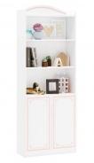 Knihovna Betty - bílá/růžová