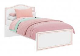 Studentská postel Betty 120x200cm - bílá/růžová
