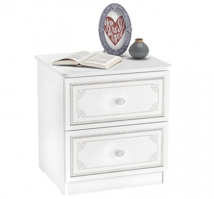 Noční stolek Betty - bílá/šedá