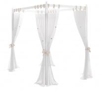 Nebesa nad postel Ballerina, textilní část - bílá