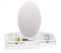 Zrcadlo ke komodě Ballerina - bílá