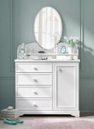 Kombinovaná komoda se zrcadlem Ballerina - bílá