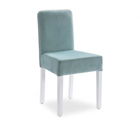 Moderní čalouněná židle Ballerina - bílá/mint