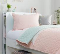 Oboustranný přehoz na postel 90-100cm Ballerina - lososová/mint