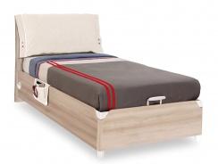 Výklopná postel 100x200cm s úložným prostorem Veronica - dub světlý/bílá