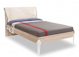 Studentská postel 120x200cm s polštářem Veronica - dub světlý/bílá