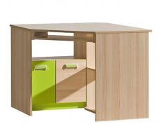 Rohový stůl Limo L11 - jasan coimbra/zelená